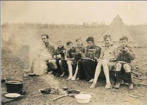 Old scouts camp fire